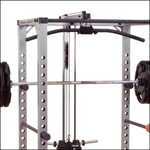 GLA378 är ett latsdrag och sittande rodd tillval till Body Solid Power Cage GPR378