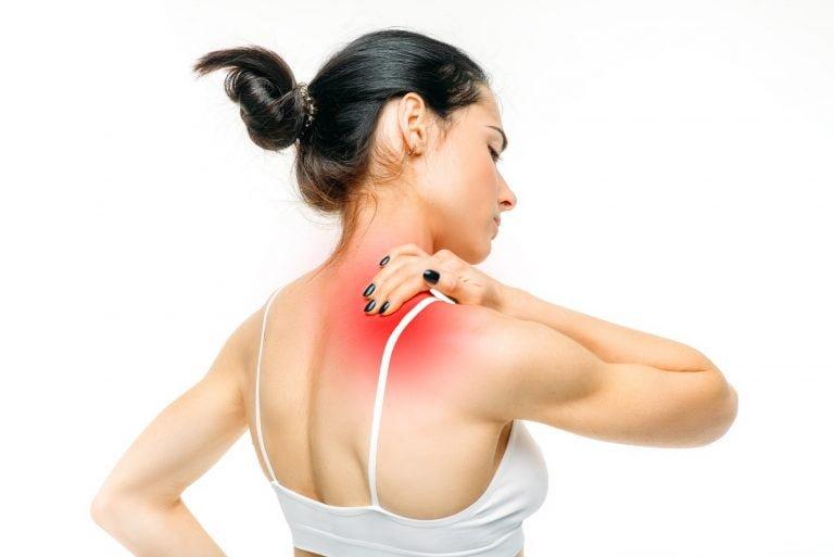 Posture kylgel kvinna smärtlindring nacke axlar