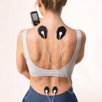 TENS EMS Kvinna rygg smärtlindring